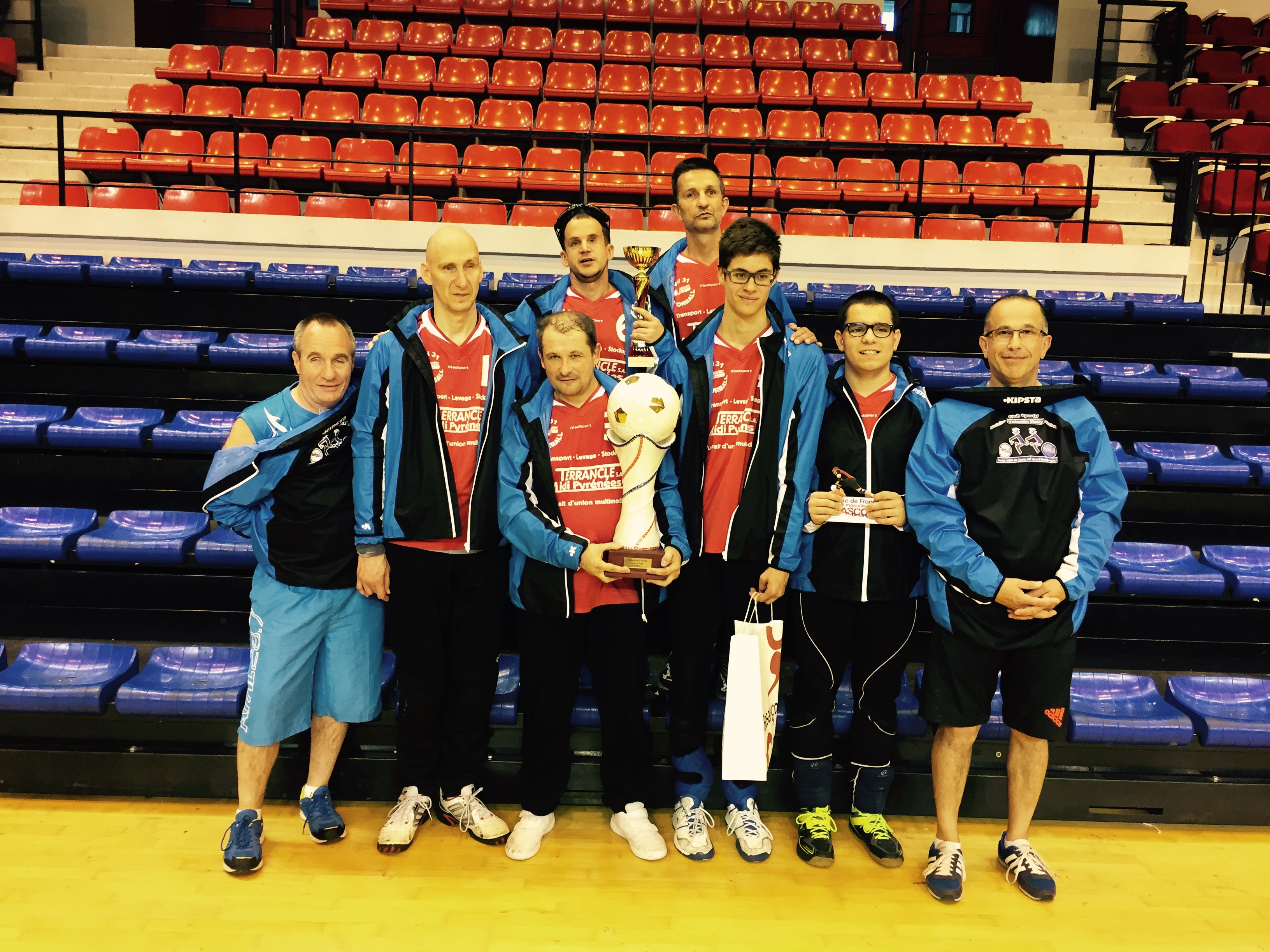photo équipe et de la coupe de France Torball 2015